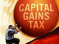 cap gains tax cartoon
